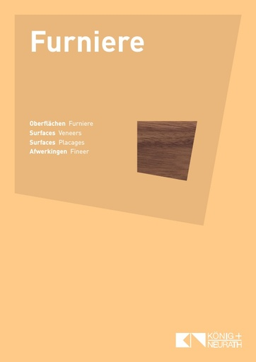 Oberflaechenkarte Furniere 2018